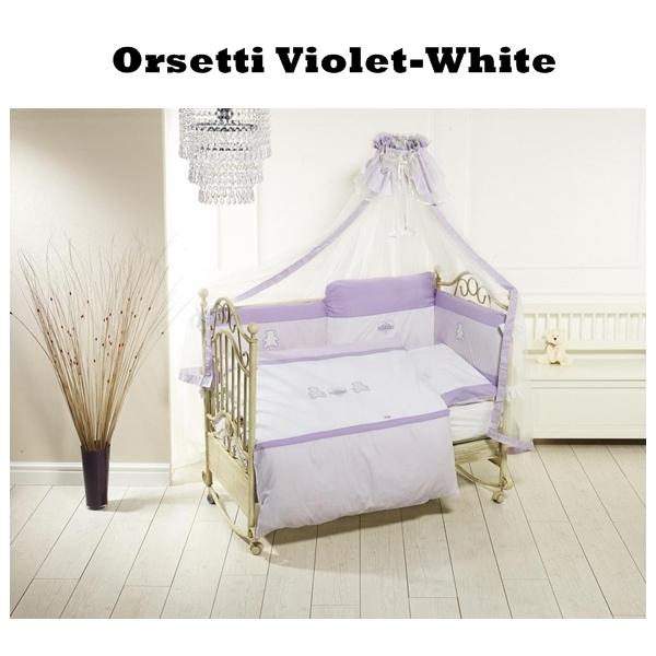 Lenjerie de pat Feretti Trio Orsetti VioletWhite