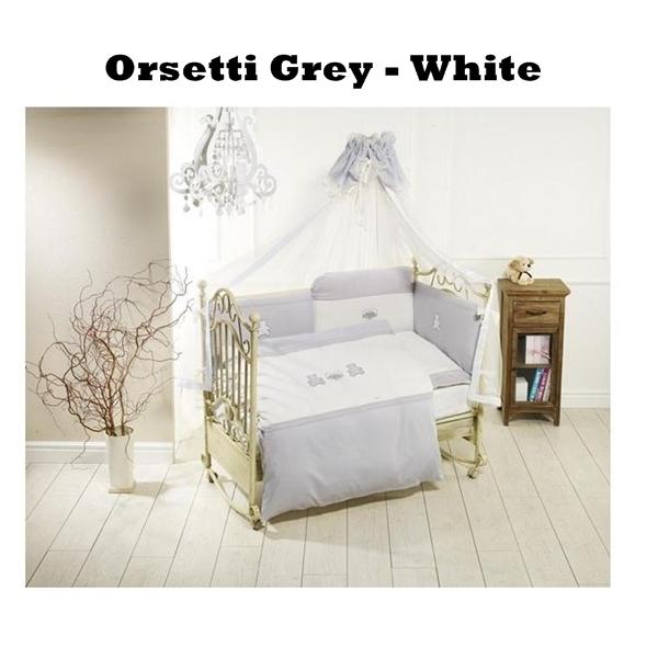 Lenjerie de pat Feretti Sestetto Long Orsetti GreyWhite