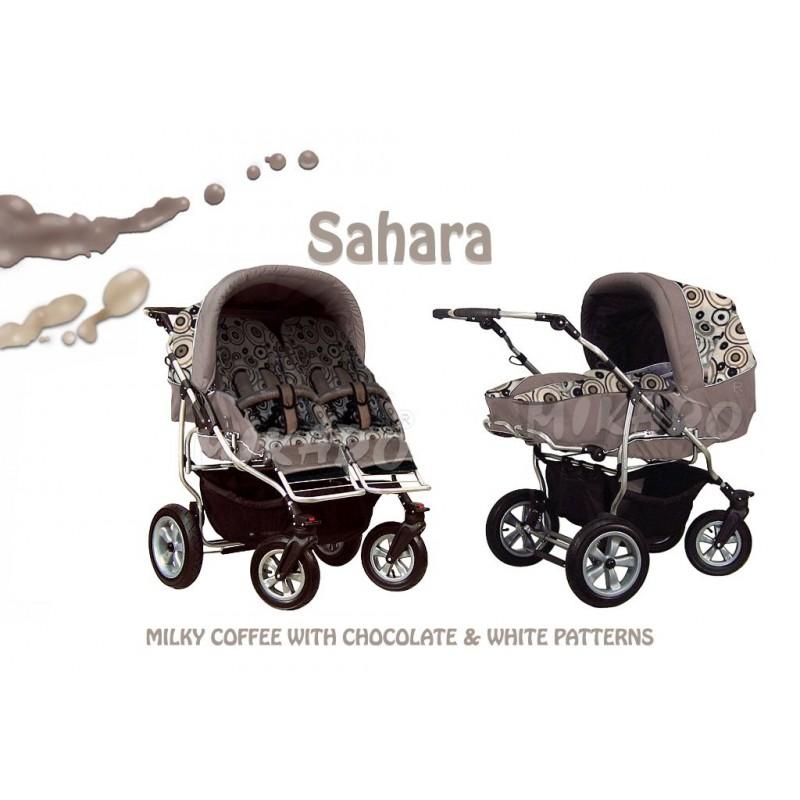 Carucior pentru gemeni Mikado Duet Sahara