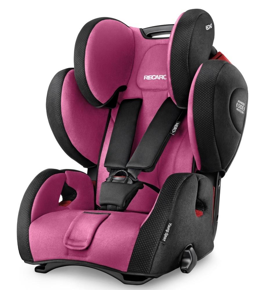 Scaun auto pentru Copii fara Isofix Young Sport Hero Pink