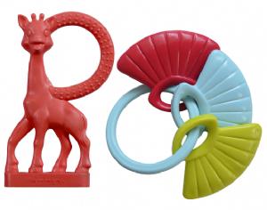 Set zornaitoare si inel dentitie Girafa Sophie vanilie