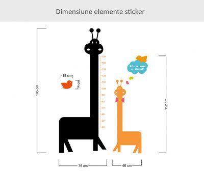 Sticker cu tabla de scris Sa crestem mari