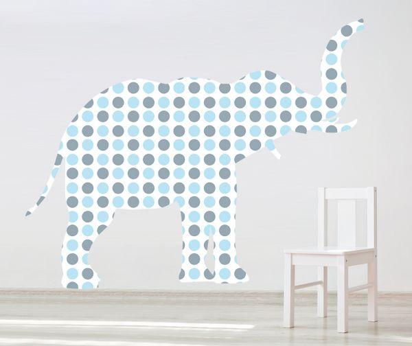 Sticker decorativ Giant Elephant pentru baietei (Mic)