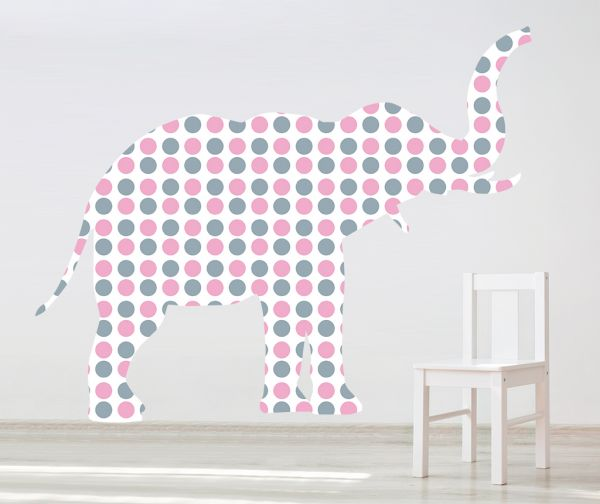 Sticker decorativ Giant Elephant pentru fetite (Mic)