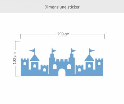 Sticker decorativ perete Fortress