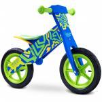 Bicicleta din lemn Toyz by Caretero Zap Blue/Green