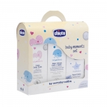 Set cosmetice Chicco Baby Moments gel dus sampon lotiune si apa colonie