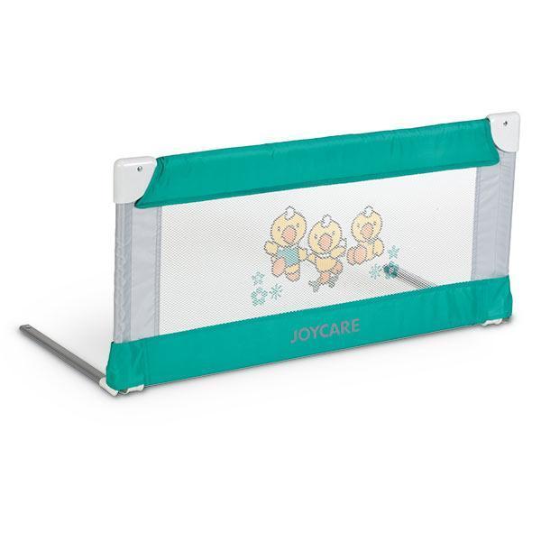 Bariera de pat 90 cm Joycare Verde cu gri + Geanta