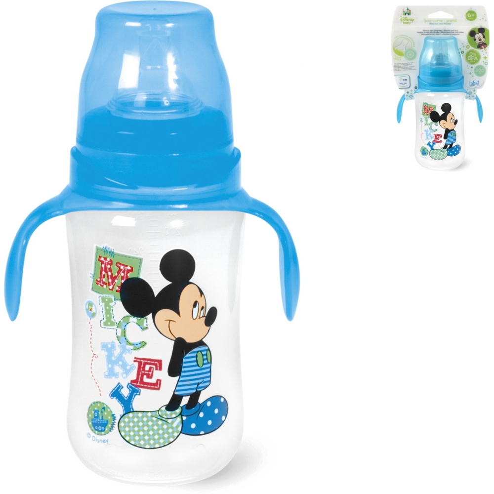 Biberon cu maner 300 ml Mickey Lulabi 8089530