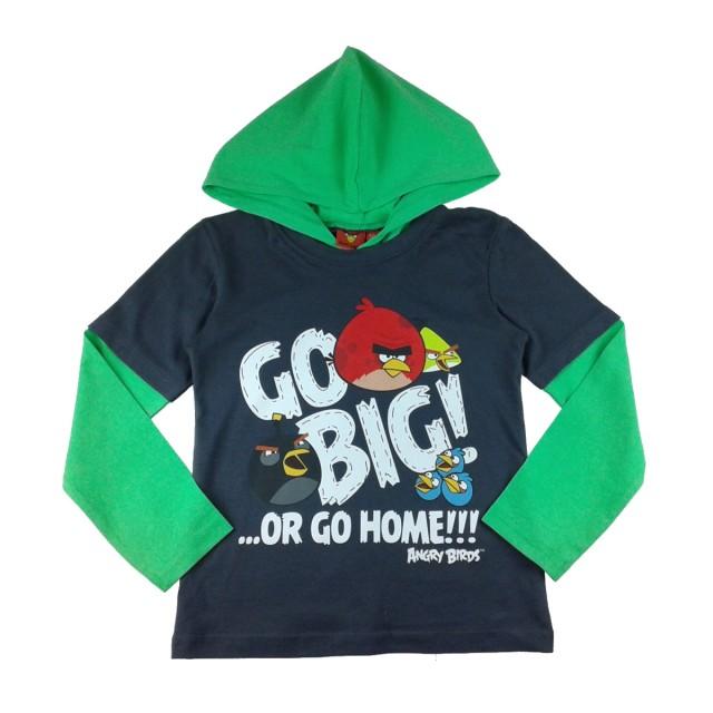 Bluza Angry Birds, Rovio, gri petrol (Masura 128 (7-8 ani))