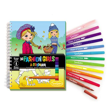 Carnet de colorat - Fashion Girls