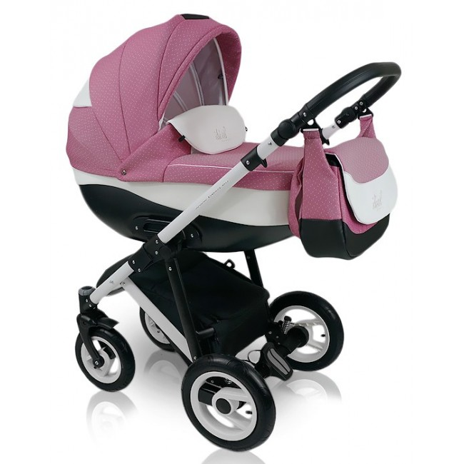 Carucior copii 3 in 1 Bexa Ideal Sweet Pink Cadru alb
