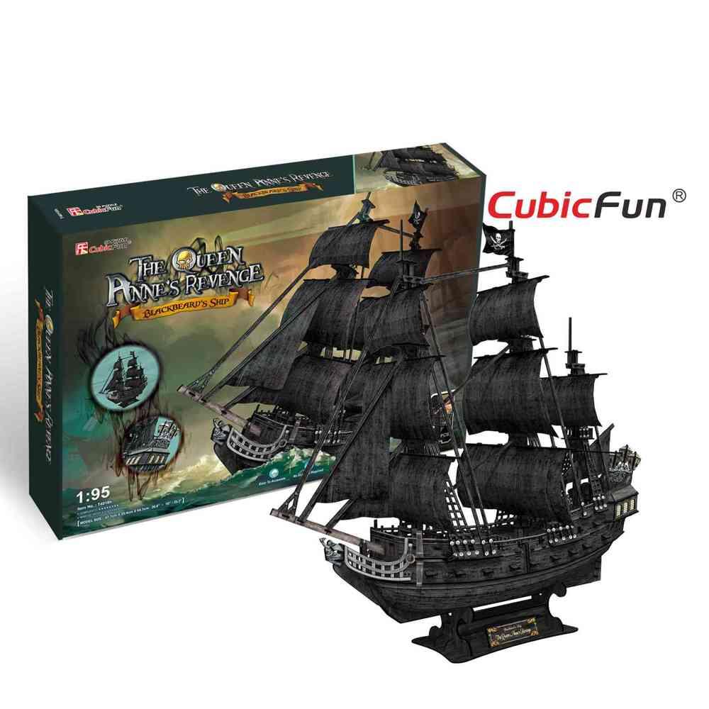 Corabia lui Barba Neagra Puzzle 3D