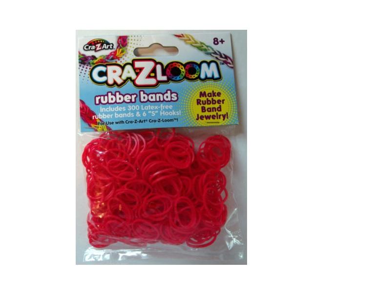 Cra-z-loom rezerve benzi elastice -Rosu