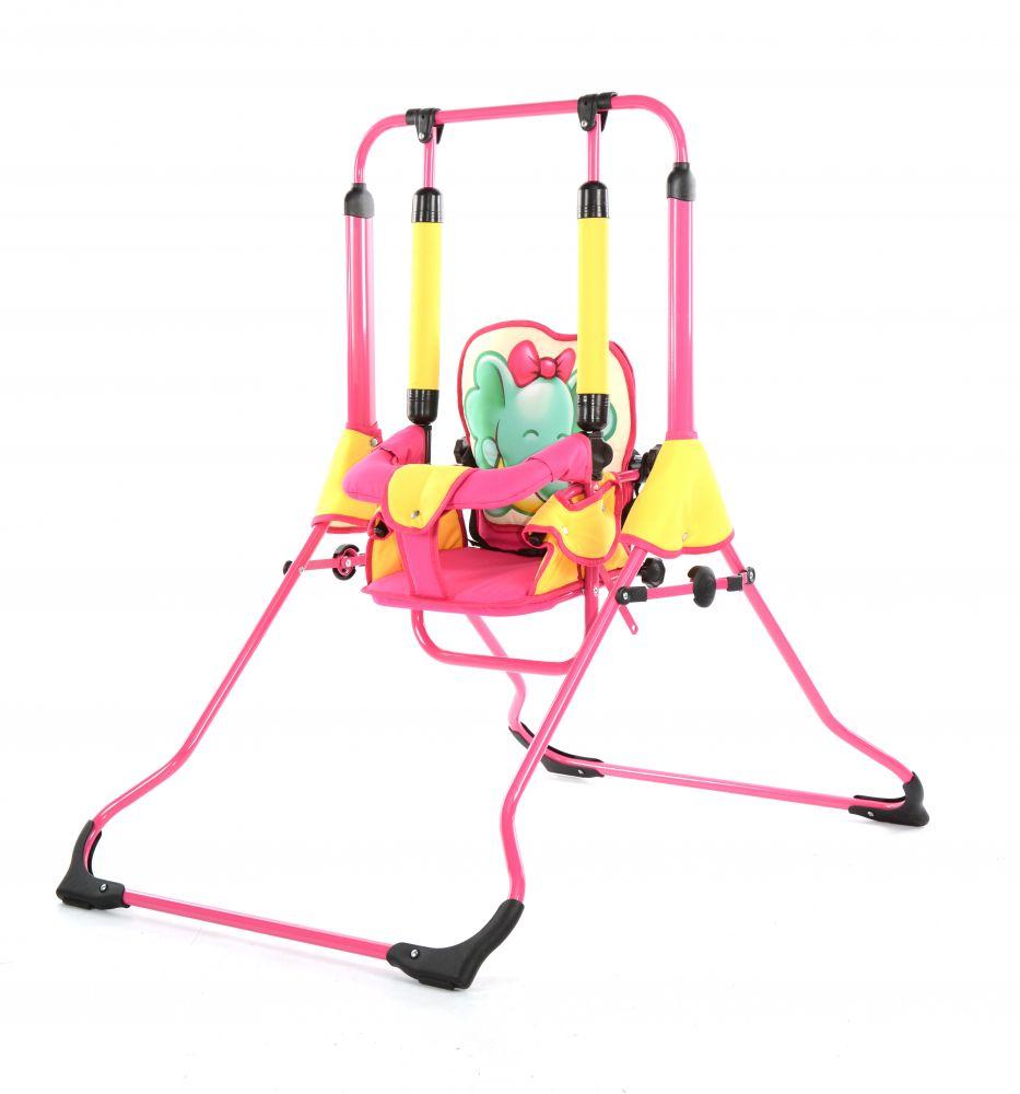 Leagan pentru copii Tako Wild Animals Baby Elephant Pink