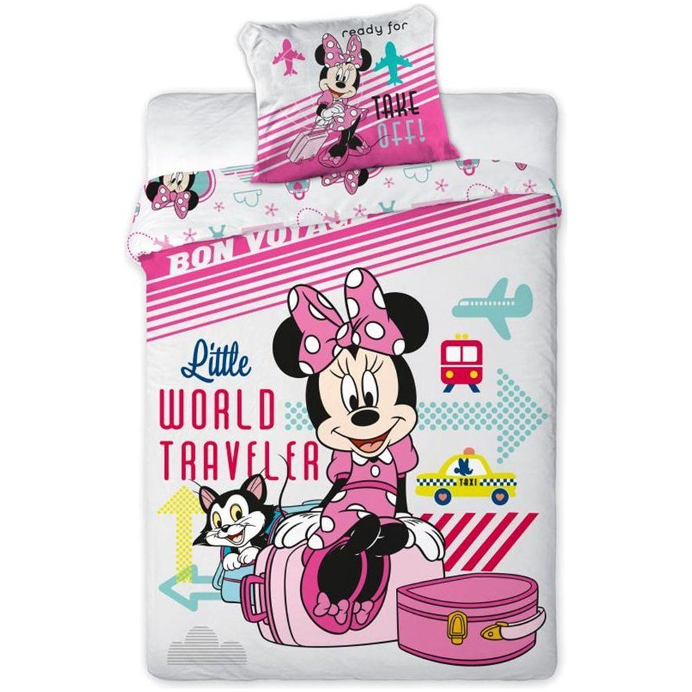 Lenjerie de pat Minnie Mouse 160x200 cm MM6901