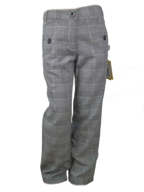 Pantaloni fete bumbac subtire, elastic reglabil in talie (Masura 122 (6-7 ani))