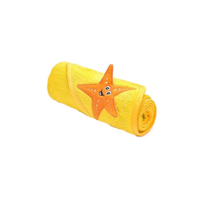 Prosop cu gluga brodata 75x75 cm Yellow