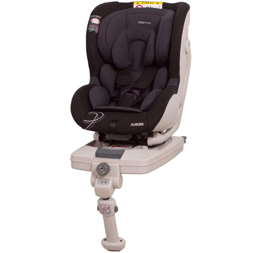 Scaun auto cu Isofix Aurora Coto Baby Negru