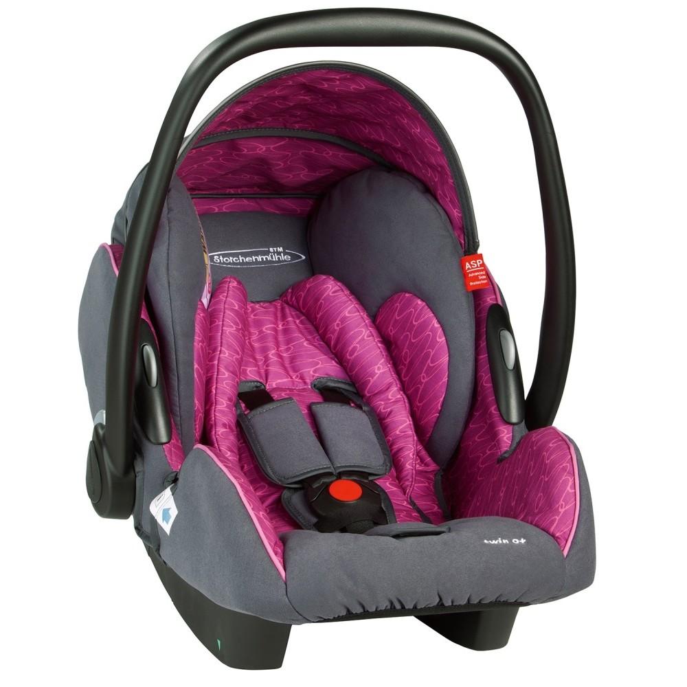 Scaun auto pentru copii Twin 0+ Rosy