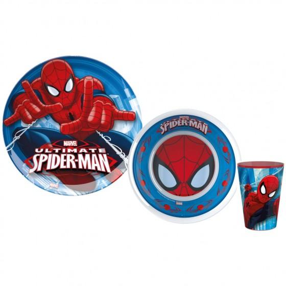 Set 2 Farfurii Si Pahar Bbs Spiderman