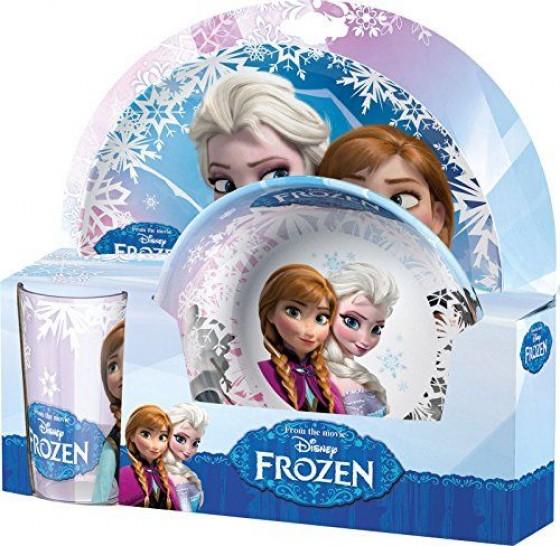 Set 2 farfurii si pahar BBS cu licenta Frozen
