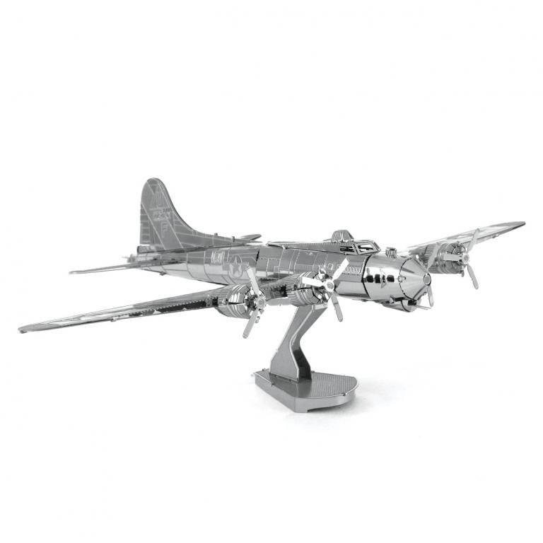 Set asamblare macheta metalica Avion militar Boeing B-17 - Metal Earth