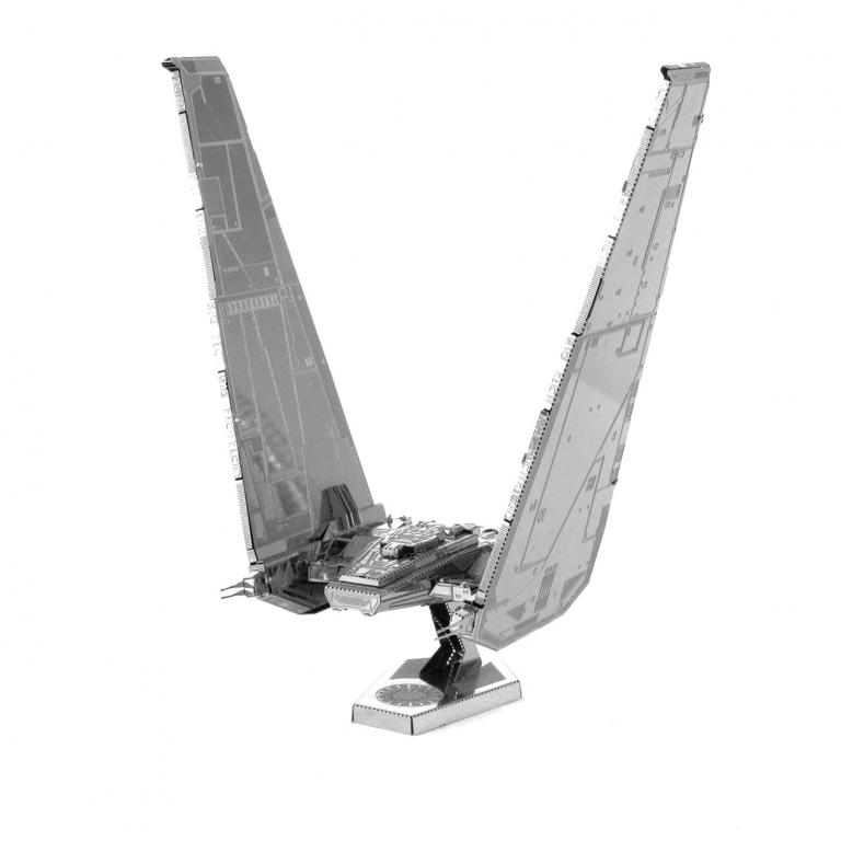 Set asamblare macheta metalica Nava lui Kylo Ren Star Wars - Metal Earth