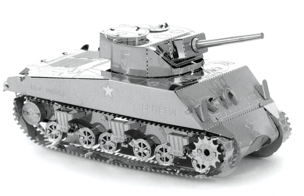 Set asamblare macheta metalica Tanc american Sherman - Metal Earth
