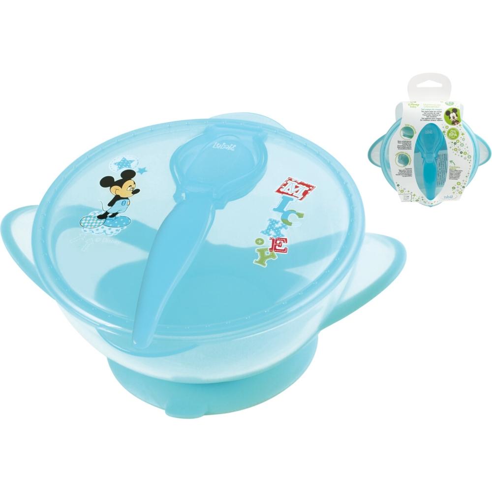 Set hranire pentru calatorii Mickey Mouse Lulabi 8329300