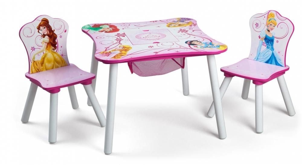 Set masuta multifunctionala si 2 scaunele Disney Princess