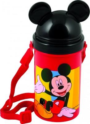 Sticla de baut BBS 50 cl cu capac, pai si curea umar cu licenta Mickey Mouse