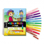 Carnet de colorat - Fashion Girls