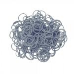 Elastice Rainbow Loom Metalic Argintiu-300 buc