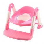 Reductor toaleta cu scarita Toilet trainer 3 in 1 Pink