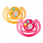 Suzeta silicon Smile 6L+ 2/set raspberry Rotho-babydesign