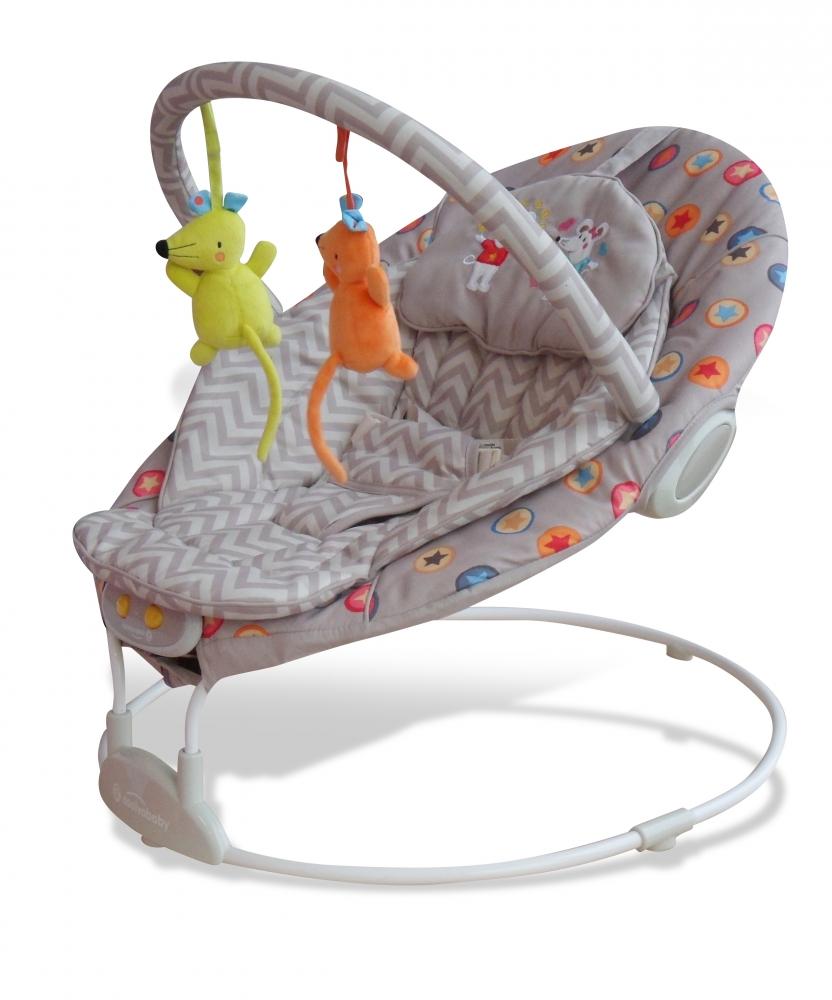 Balansoar pentru bebelusi cu muzica Mice Beige