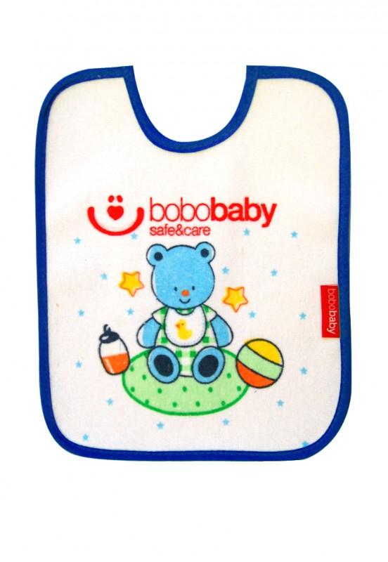 Baveta cu scai mica Ursulet blue Bobobaby