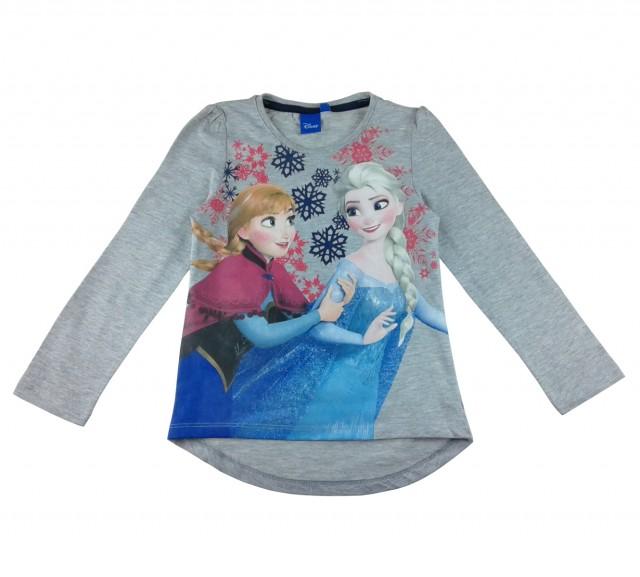 Bluza Frozen Disney, fata, gri (Masura 110 (4-5 ani))