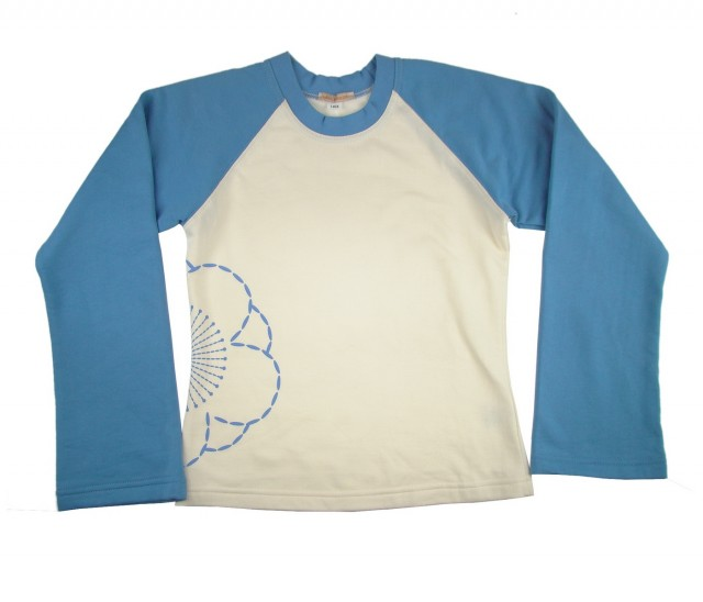 Bluza pentru toamna-iarna fete Flower (Masura 140 (9-10 ani))
