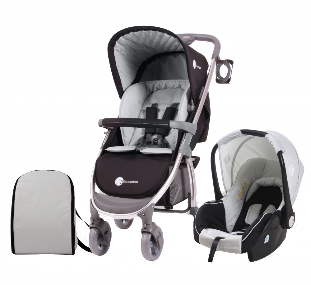 Carucior 2 in 1 Travel System Roma Black