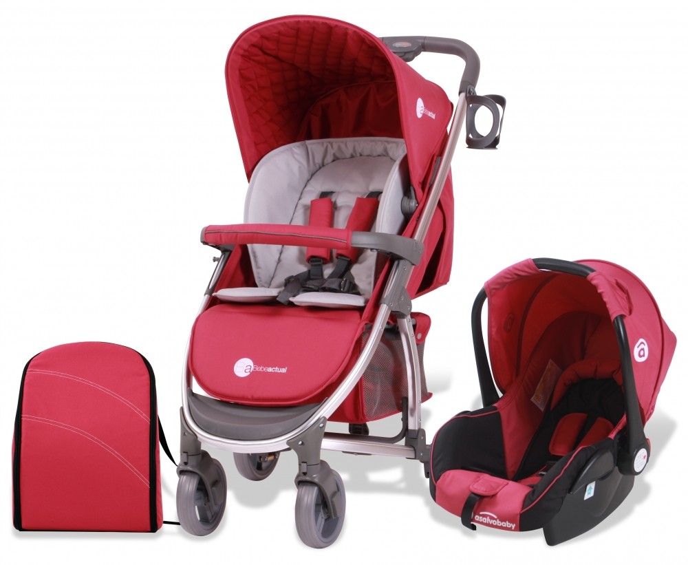 Carucior 2 in 1 Travel System Roma Scarlet