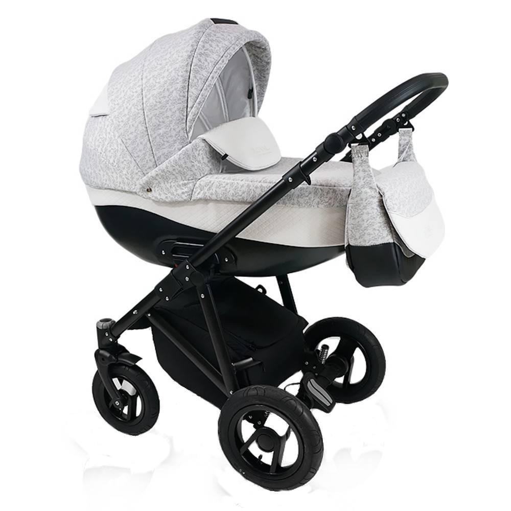 Carucior copii 3 in 1 Bexa Royal Grey Cadru negru