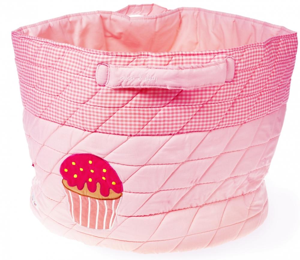 Cos pentru depozitare jucarii Cupcake