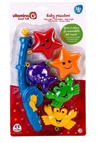 Joc distractiv copii jucat la baie undita pescuit cu animale blister