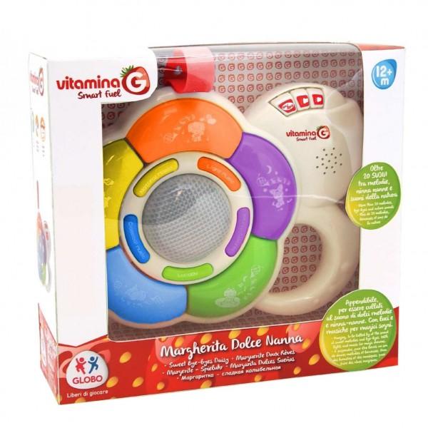 Jucarie muzicala Vitamina G floare pentru bebelusi, cu lumini si sunete