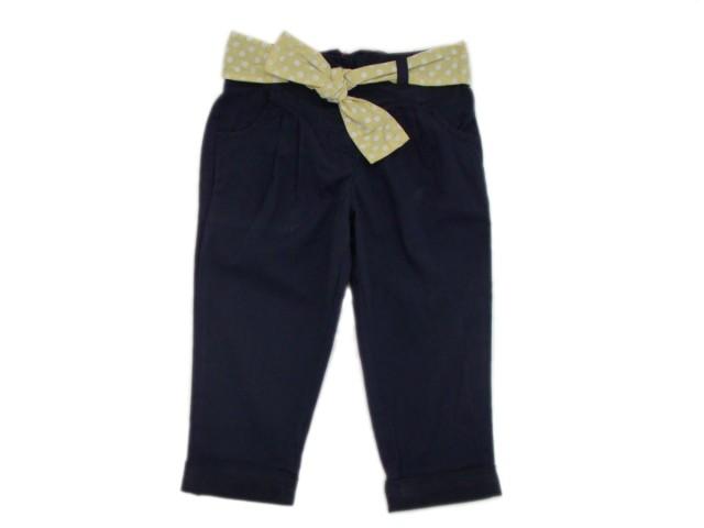 Pantaloni fetite stil chino (pe glezna) material bumbac (Masura 8692 (1.5 - 2 ani))