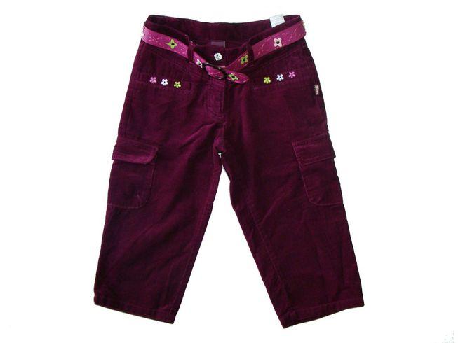 Pantaloni raiat trei sferturi fete Emilly (Masura 116 (5-6 ani))
