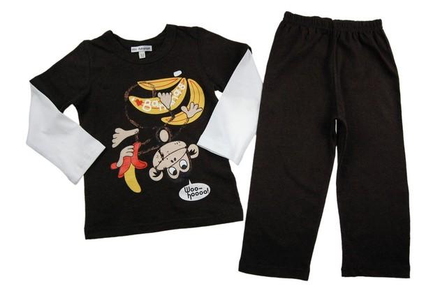 Pijamale copii Happy Monkey (Masura 110116 ( 56 ani))