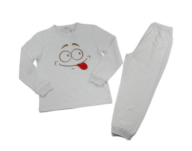 Pijamale fetite Smiley (Masura 128 (7-8 ani))